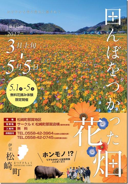 田んぼ花畑チラシ