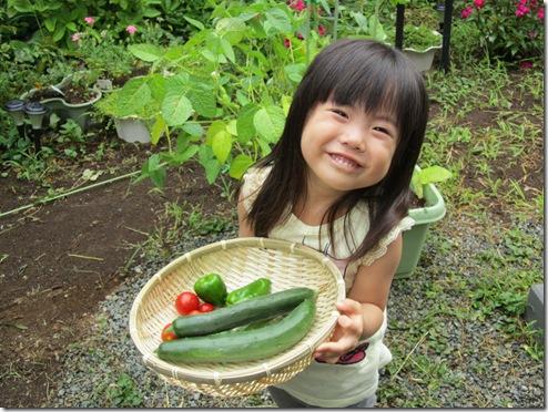 収穫体験&夏の思い出